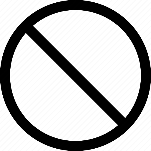 closed, forbidden, no icon
