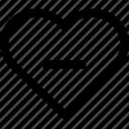 favorite, heart, like, love, remove icon