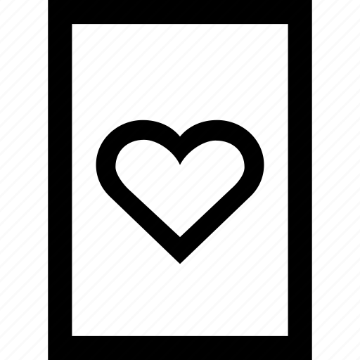 card, casino, gambling, hearts icon