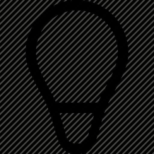 bulb, electric, idea, light, power icon