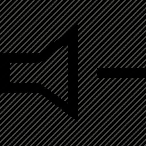 low, lower, minus, volume icon