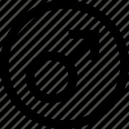 circle, male, man icon