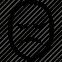 mask, sad, theatre icon