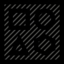 puzzle, shape icon