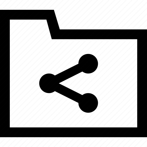documents, folder, share icon