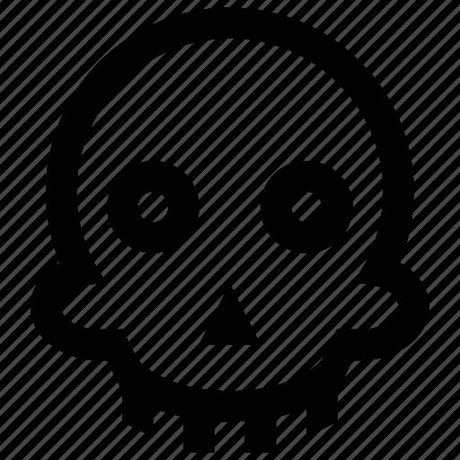halloween, scary, skeleton, skull icon