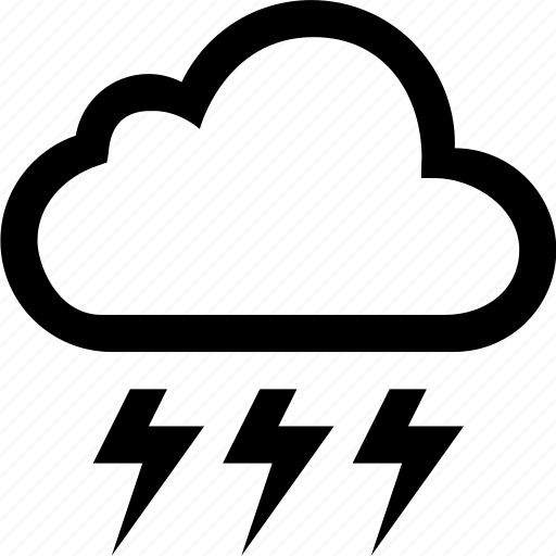 cloud, lightning, rain, storm, weather icon