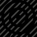 aim, bullseye, target icon