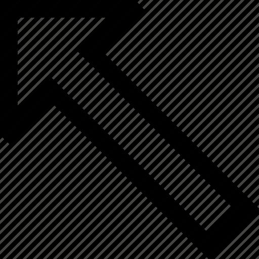 arrow, direction, left, top icon