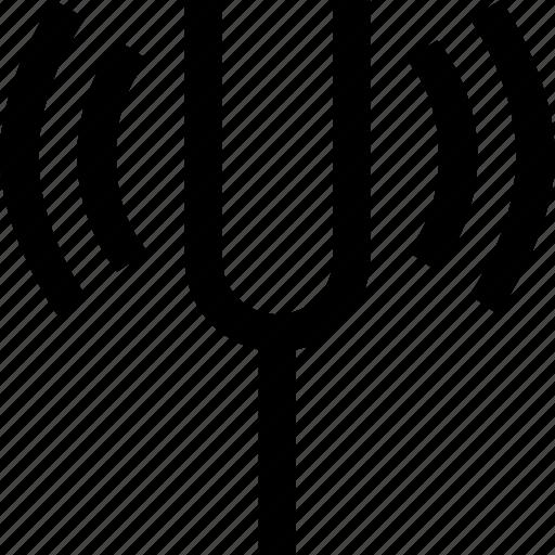 audio, fork, sound, tuning icon