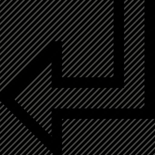 arrow, direction, left, turn icon