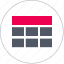 banner, grid, layouts, online, wireframes icon