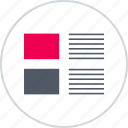 description, layouts, online, photo, web, wireframes icon