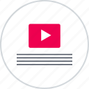 description, layouts, online, play, wireframes, youtube icon