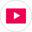 layouts, online, play, player, wireframes, youtube icon