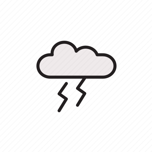 cloud, forecast, light, thunder, weather icon