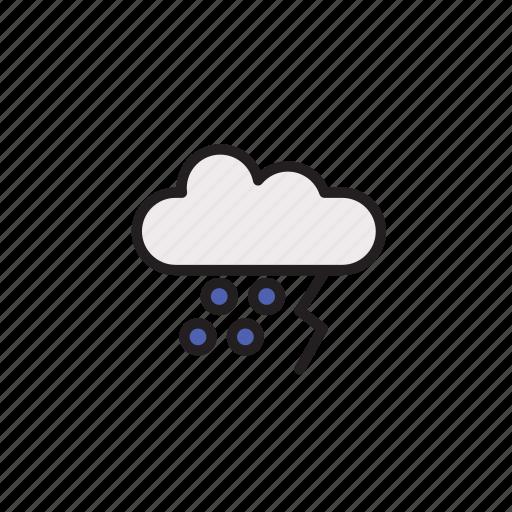Thunder, weather, rain, storm, forecast icon