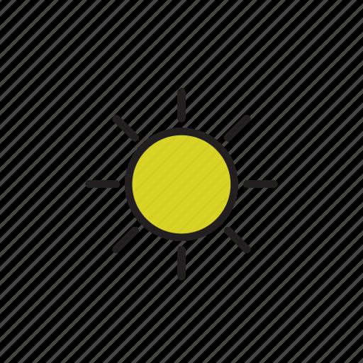 day, forecast, sunny, weather icon