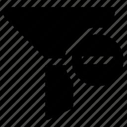 delete, filter icon