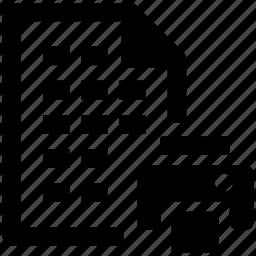 data, print, printer, sheet, table icon