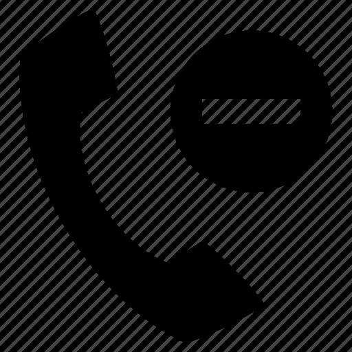 contact, delete, minus, phone, remove, telephone icon