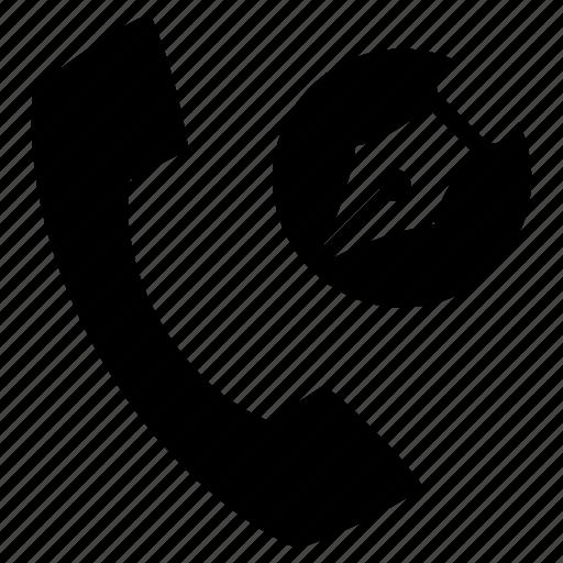 contact, edit, nib, pen, phone, telephone icon