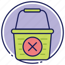 cancel, cancelation, cancle order, cart, empty cart, shopping basket icon