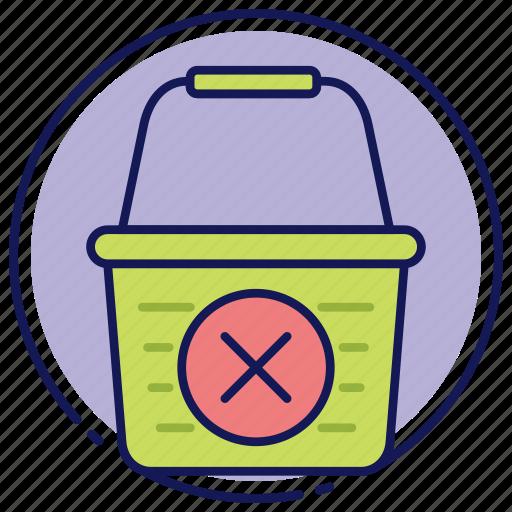 cancel, cancelation, cancle order, cart, empty cart, shopping basket icon