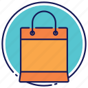 bag, bag from the store, paper bag, shopping bag icon