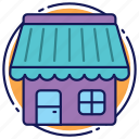 bakery, cafe, house, market, shop, store icon