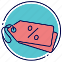 declaration, discount, label icon
