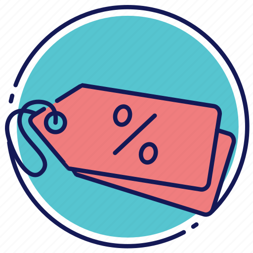 declaration, discount, label icon