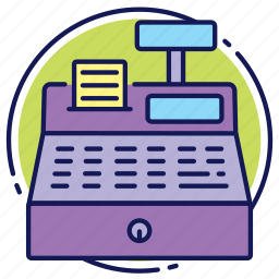 bill, calculus, cash register, cashbox, fiscal bill, payment, shop icon