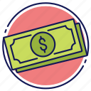 currency, dollars, greenbacks, money, paper money icon