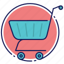 cart, shopping, shopping basket, shopping cart icon
