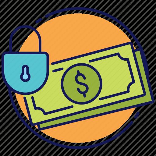 money, safe money, safe transactions, secure transactions, secured money icon