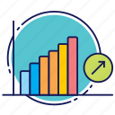 charts, increase, raise, raise up, statistics, up icon