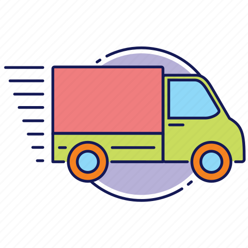delivery, fast delivery, lorry, speed, truck icon