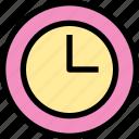 clock, essential, menu, time icon