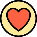 essential, heart, love, menu icon
