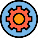 essential, menu, process icon