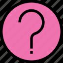 essential, menu, question icon