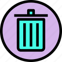 bin, essential, menu, recycle icon
