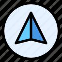 arrow, gps, navigation, sign