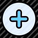 add, circle, plus, addition, new