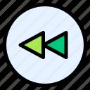 rewind, navigation, fast, slow, backward