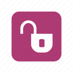 key, lock, open lock, password, protection, safety, secure, security, shield icon