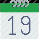 3, calendar icon