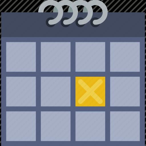 1, calendar icon