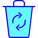 bin, recycle, recycling, refresh, reload, repeat, trash icon